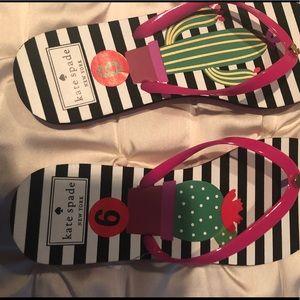 Kate Spade nassau Cactus flip flops 6 new